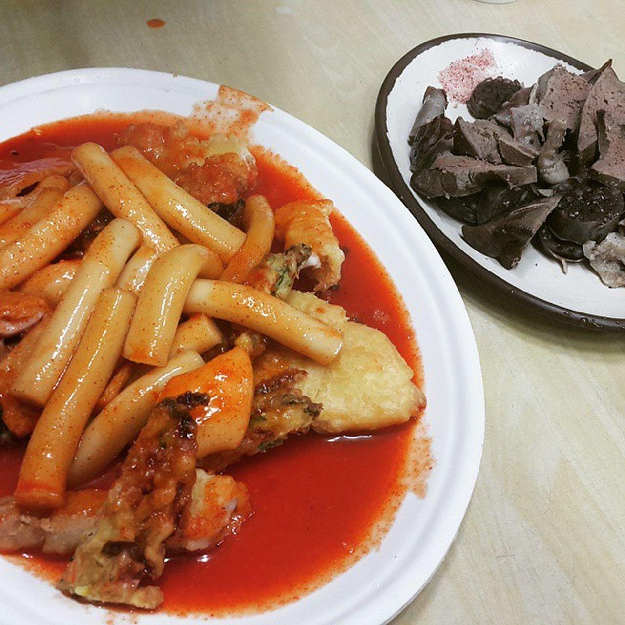 먹스타그램 떡튀순 떡볶이 튀김 순대