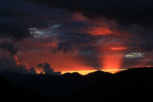 Cloud - Sky Corse Dramatic Sky Horizontal Mountain Mountain View Nature Silhouette Sky Sky And Clouds Sunlight Sunset Sunset Silhouettes