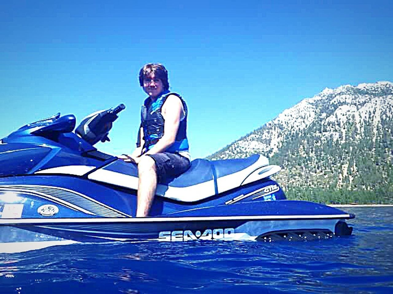 The essence of summer The Following My Happy Place  Swimming In The Lake Water Lake Tahoe Water Sports Waterproof Camera Jet Skiing Having Fun With Kids Water Photography Lake Tahoe Outdoor Photography Clear Blue Water Taking Photos ❤ Vacation Time ♡ My Son ❤ Water Sports Mountains And Sky Sierra Nevada Mountains Enjoying Life my photography
