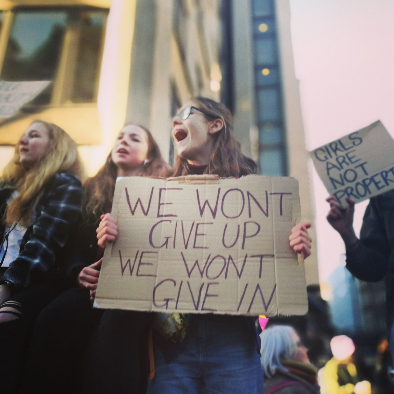 Teenage crew on Saturday's Women's March in London Females Social Issues Teenagers  Women Womens Rights Womensmarch Womensmarchlondon Young Adult