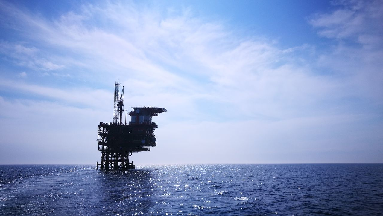Oil&gas Oil&water Sea Water Blue Environment Business Finance And Industry Nature Sky Outdoors No People Horizon Over Water Offshore Platform Cloud - Sky Beauty In Nature Day Fresh On Eyeem  Croatia Industry Oil FreshonEyeem Adriatic Adriatic Sea Oil Industry Gas