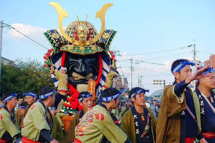 Japan Man 祭男 唐津くんち Saga,Japan People 祭り(festival) In Japan Matsuri Japanese Culture Karatsukunchi 唐津市
