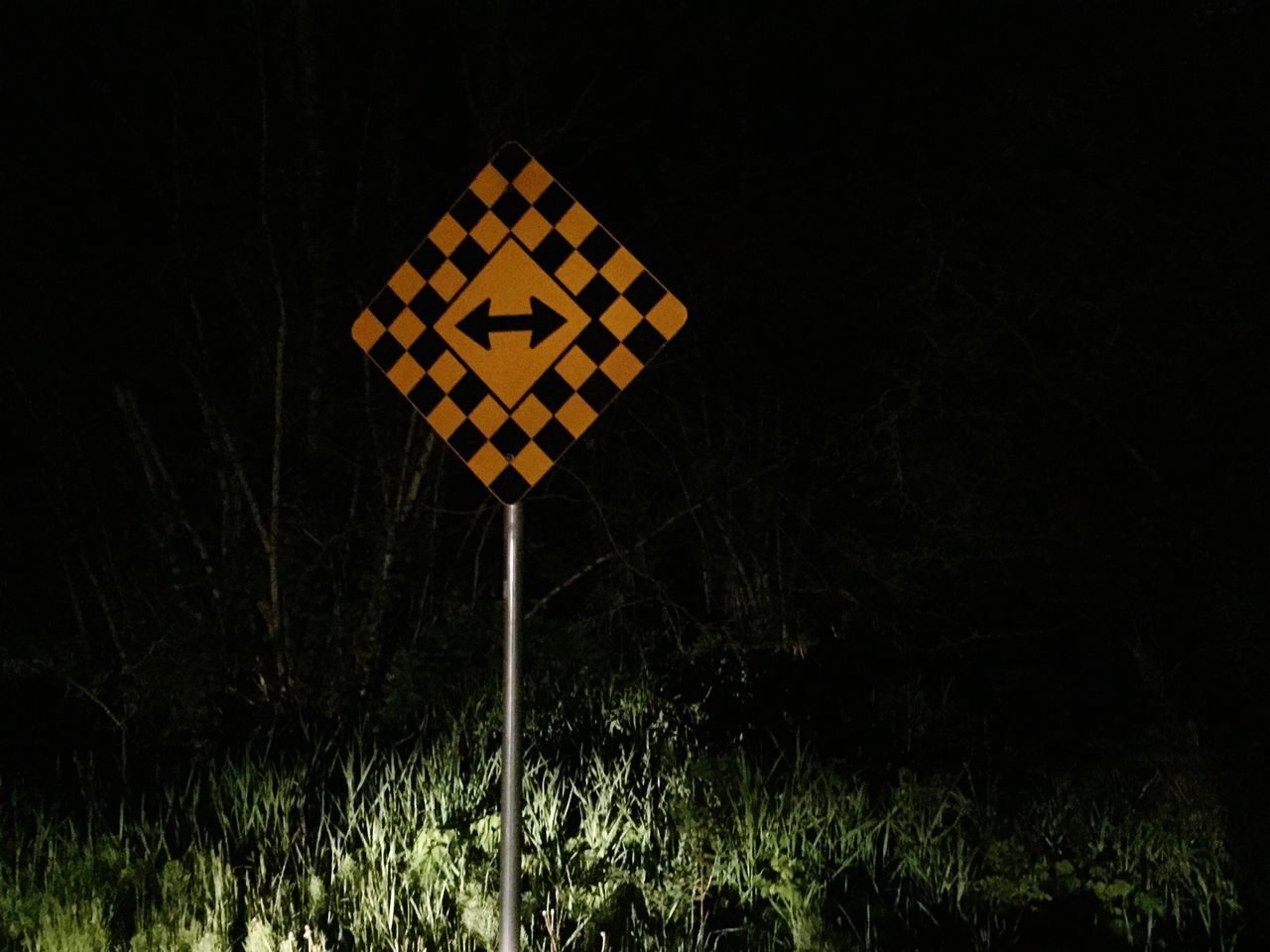 Night No People Outdoors Illuminated Yellow Sport Nature Black Background Close-up direction sign