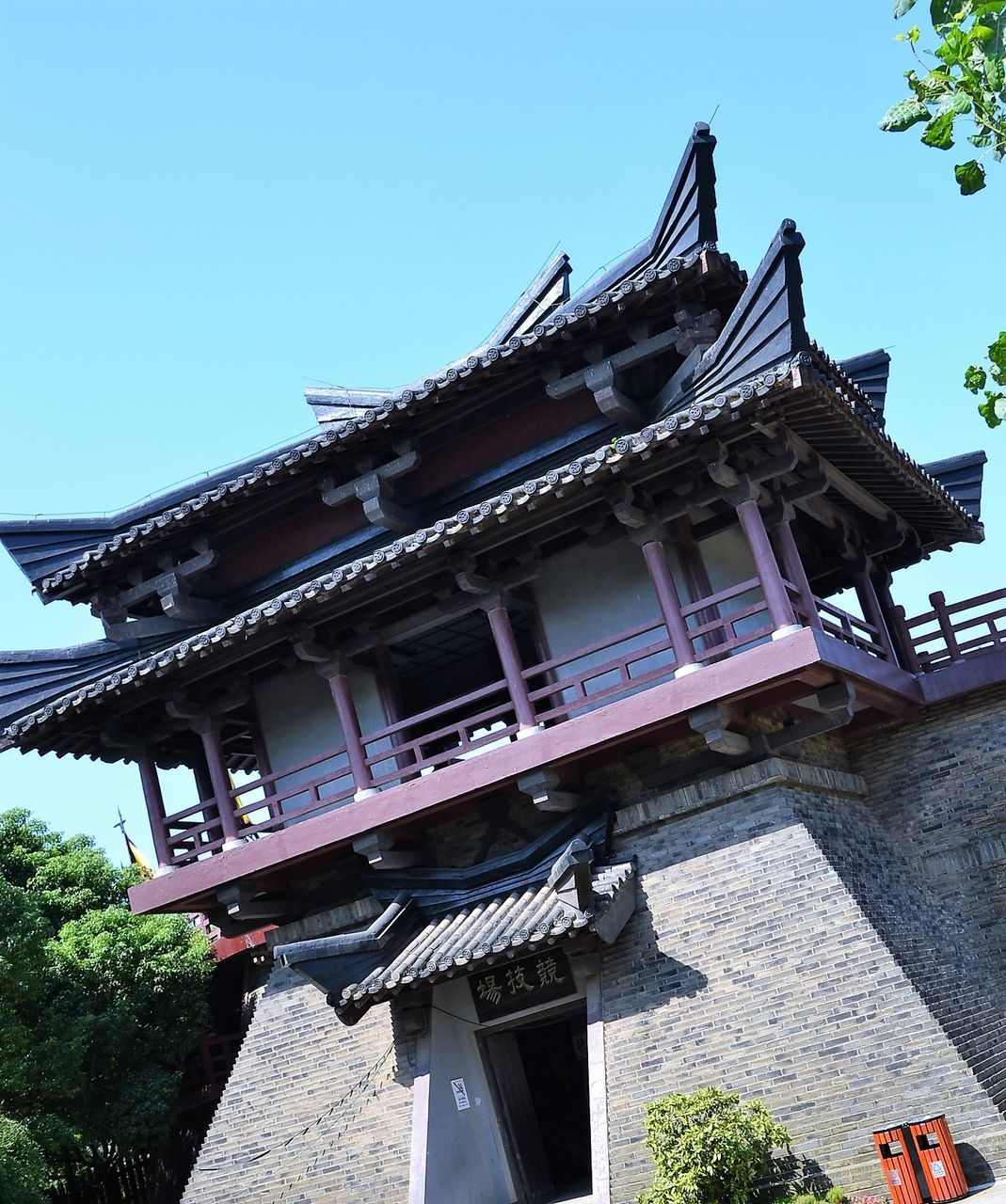 Shot of Ancient Chinese temple pagoda castle ASIA Ancient Architecture East Pagoda Buddhism Building Exterior China Chinese Cultures Religion Sturm Temple Traditional