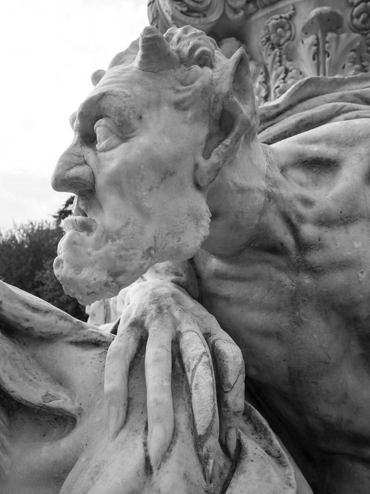 Goethe Mefistofeles Rome Rome Italy Scuplture Statue Villa Borghese