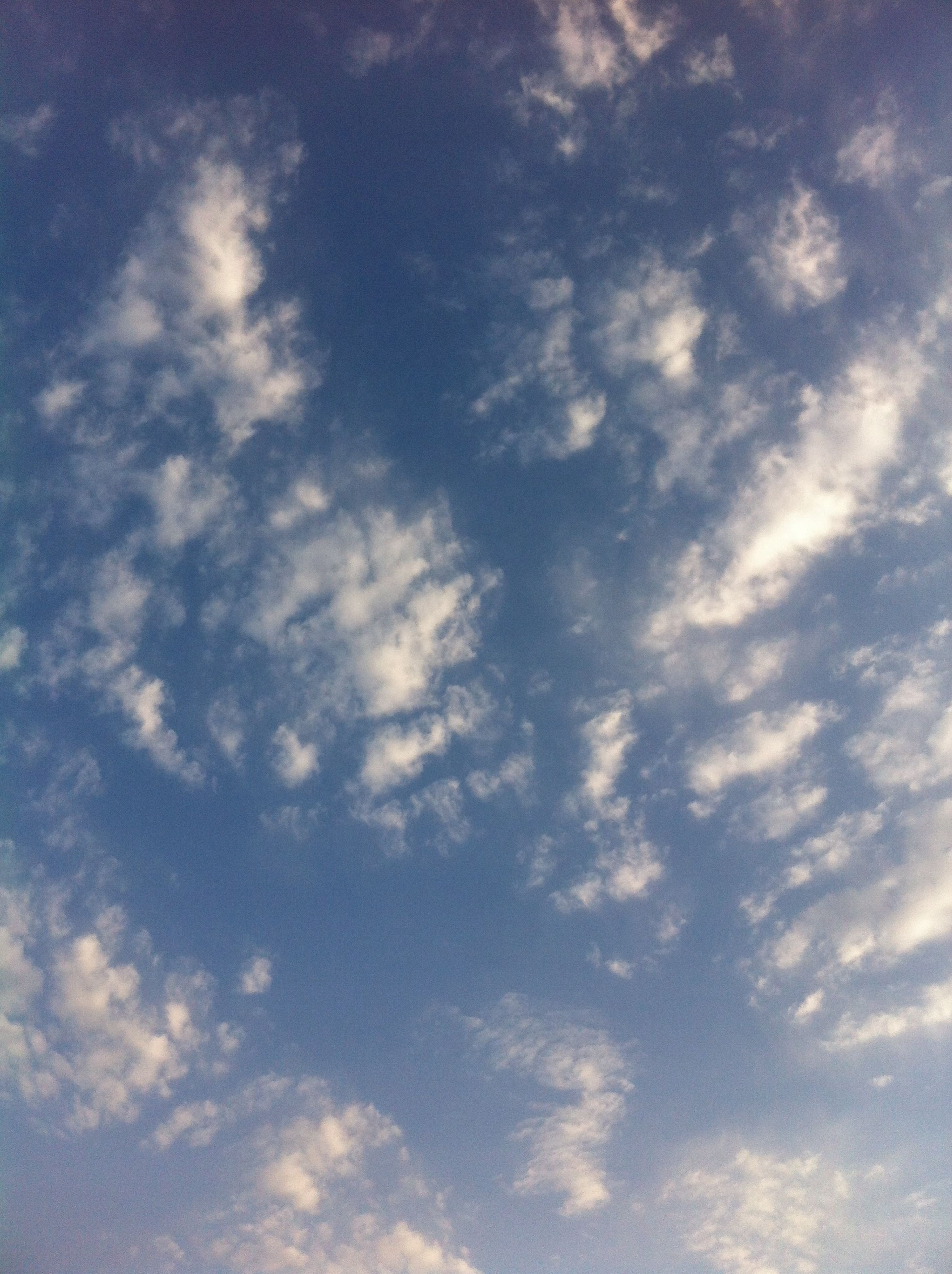 sky, low angle view, cloud - sky, sky only, beauty in nature, tranquility, backgrounds, scenics, nature, blue, full frame, tranquil scene, cloudy, cloudscape, cloud, white color, idyllic, day, outdoors, no people