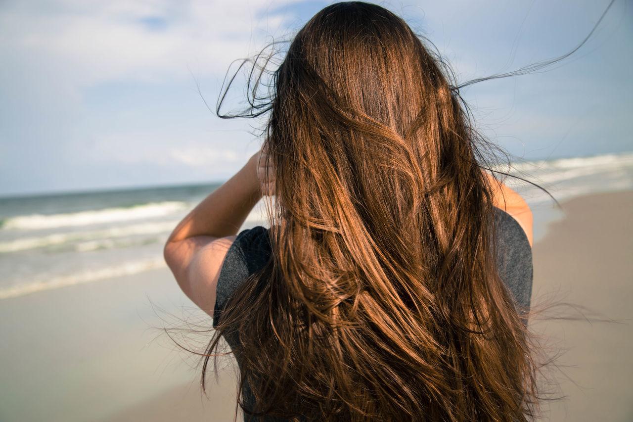 Beautiful stock photos of hair, Arms Raised, Beach, Brown Hair, Day