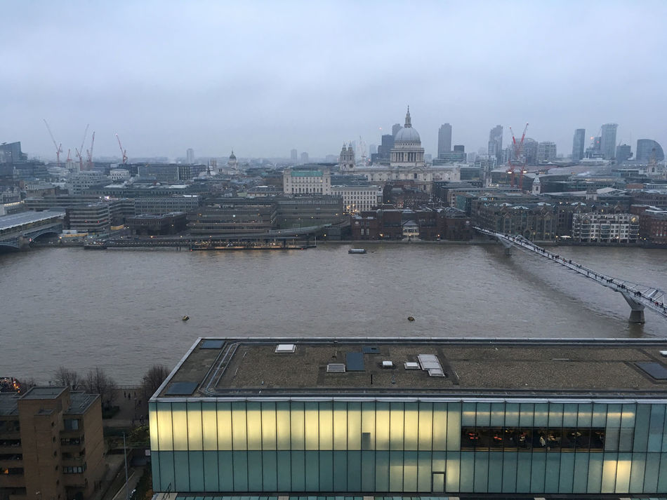 City Millenium Bridge Office Lighting River Thames River Thames Skyline St Paul's Cathedral Tate Modern