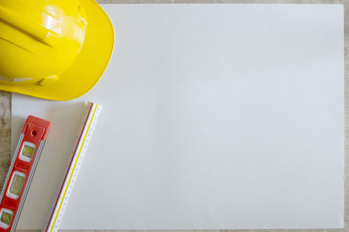 Close-up Copy Space Day Indoors  No People Safety Safety Helmet White Background