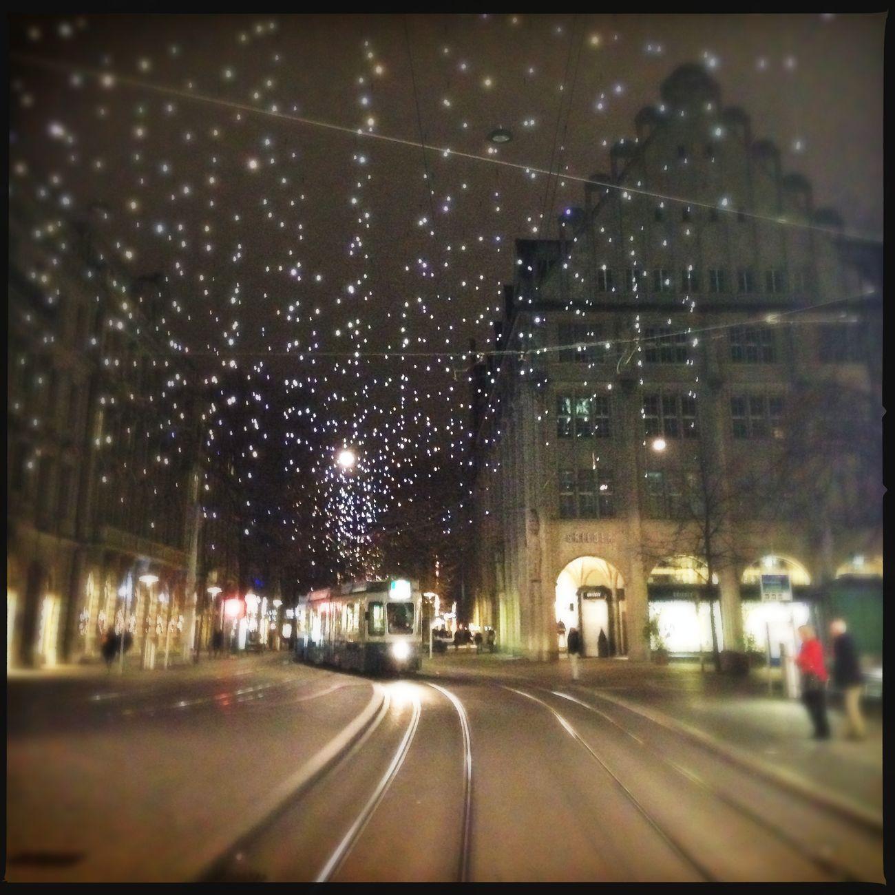 Tram Christmas Lights Magical Moment