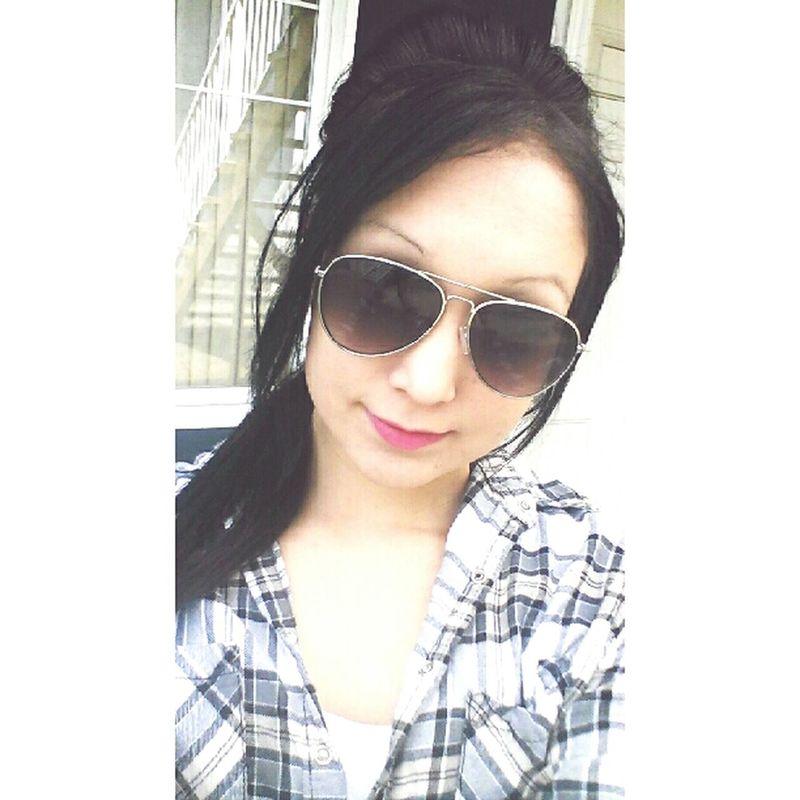 Selfie Time Sunglasses :) Lipsticklover Plaid Shirts