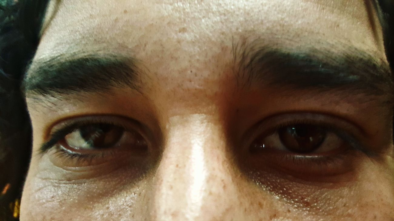 Human Eye Looking At Camera Portrait Close-up Notes From The Underground Eyes To The Wind One Person Human Body Part Adult Human Face Adults Only People Indoors  Eyelash Eyebrow Beauty Young Adult Day