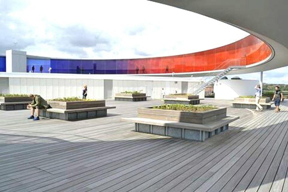 Aarhus, Denmark Darkness And Light Photography Picoftheday Arhitecture Aarhus, Denmark Art Gallery ARos Art Museum Rainbow Doctusdesign