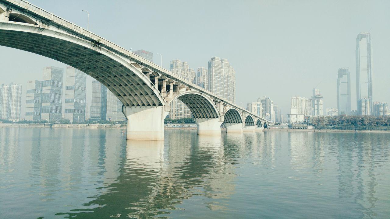 Changsha Bridge Juzizhou Mobile Photography Buildings & Sky Construction Machinery Nature Tree Blue Color