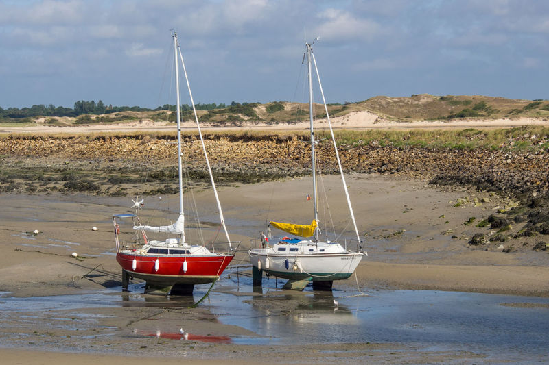 Coastline France Maritime Portbail Boat Boats Coast Day Nautical Vessel No People Normandy Outdoors Scenics Seaside Summer Vacation Waterfront