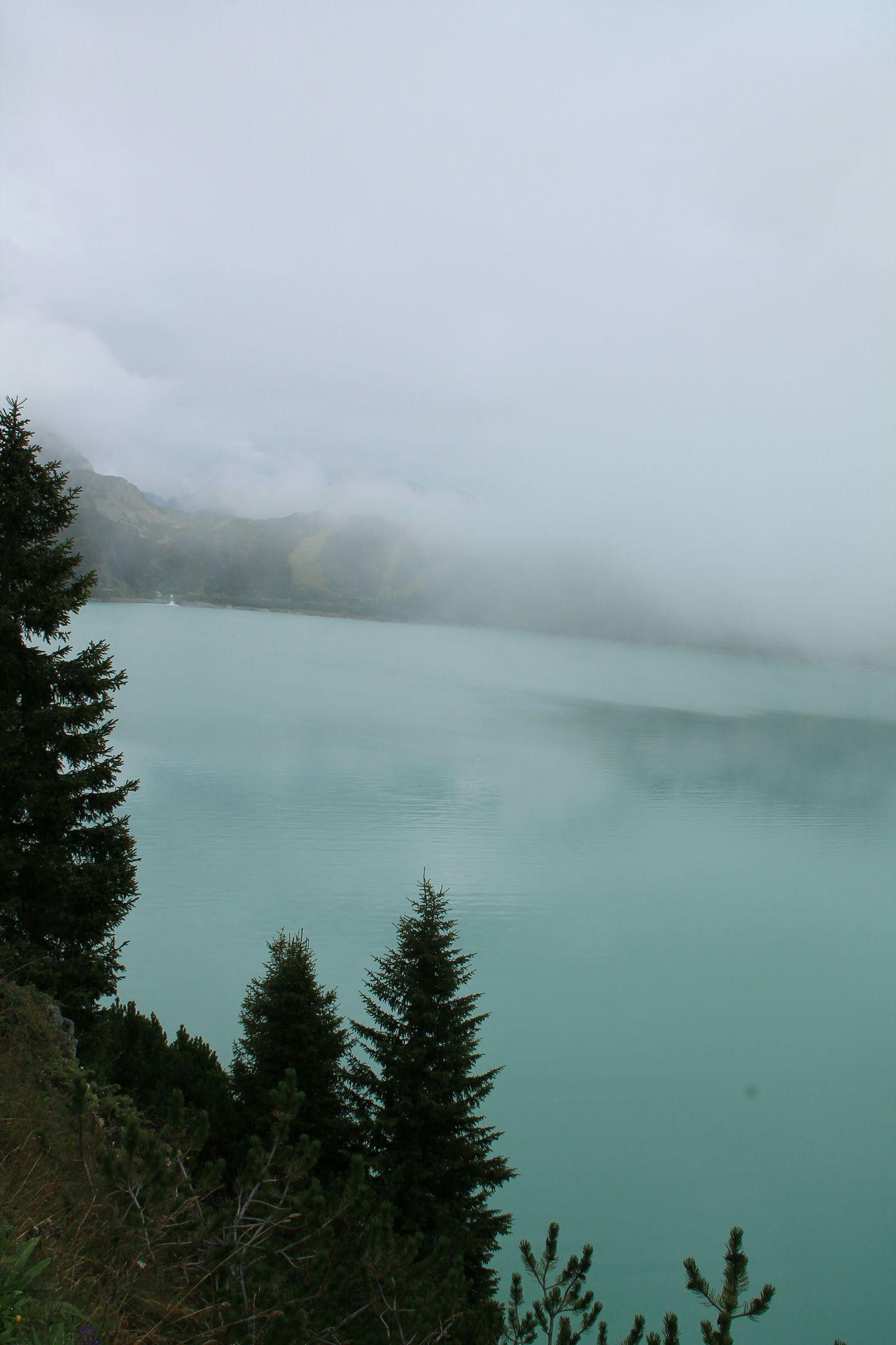 Nebel Nebelmeer Silvretta Kopfsee Bleu Water Stausee Stuwmeer