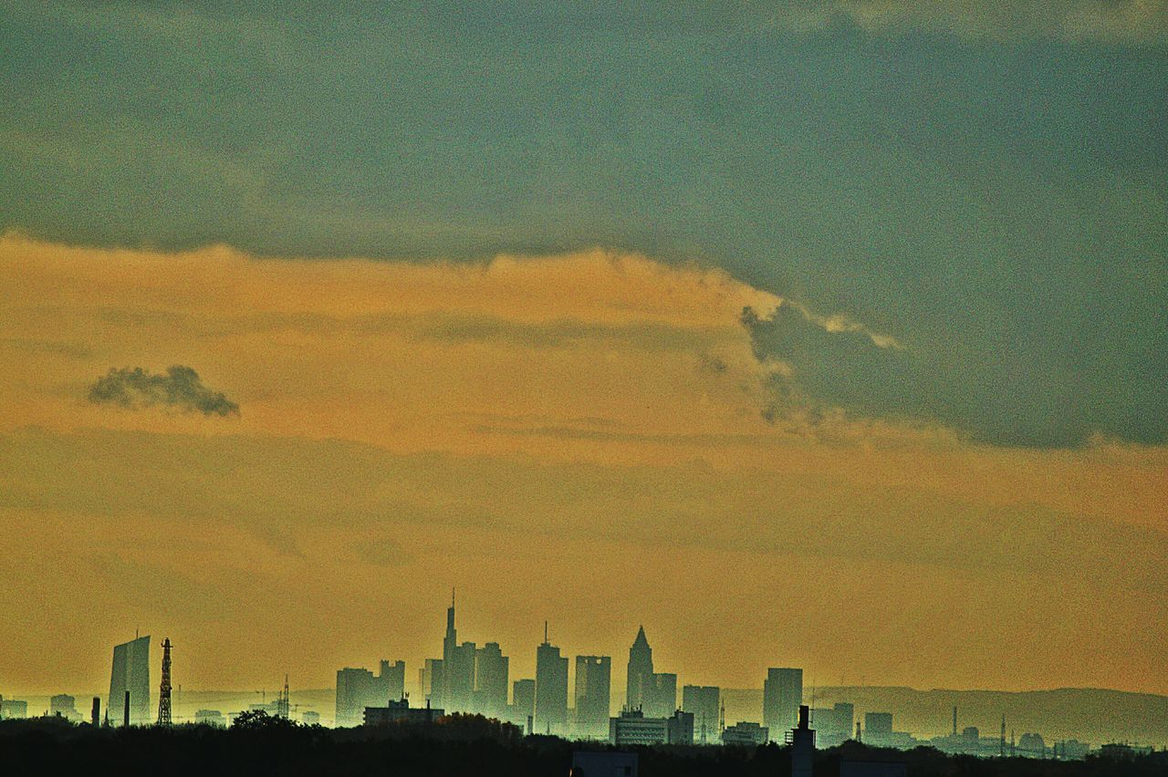 40 Km -shot In The Background : Skyline Frankfurt In The Foreground : Hanau Cityviews Sunset Sky Built Structure Architecture Growth Dramatic Sky Outdoors Scenics No People City Nature Building Exterior Beauty In Nature Cityscape Galaxy Evening Drastic Edit Frankfurt Am Main Germany🇩🇪