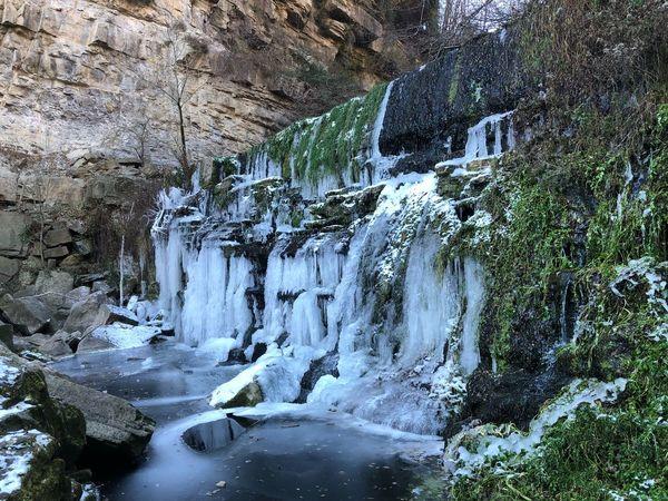 Frozen Rupit Y Pruït Waterfall Rock - Object Rock Formation Nature Water Beauty In Nature Scenics