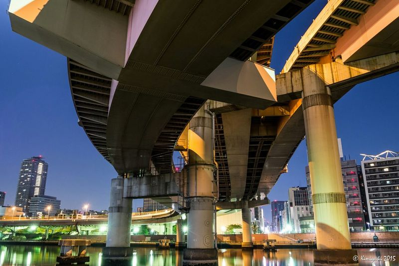 Ryogoku junction ExpressHighway 首都高 首都高速 Night View Nightphotography Olympus Olympus Om-d E-m10 Junction Tokyo Japan