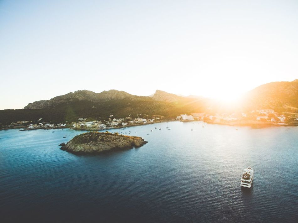 Beautiful stock photos of weltraum, Coastline, Copy Space, Cruise Ship, Day