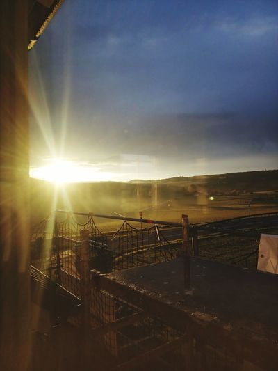 Sunrice #sunrice #morning #lovely Sky House GERMANY🇩🇪DEUTSCHERLAND@ Scaffolding Netting Ladders Walkways Pattern Geometric