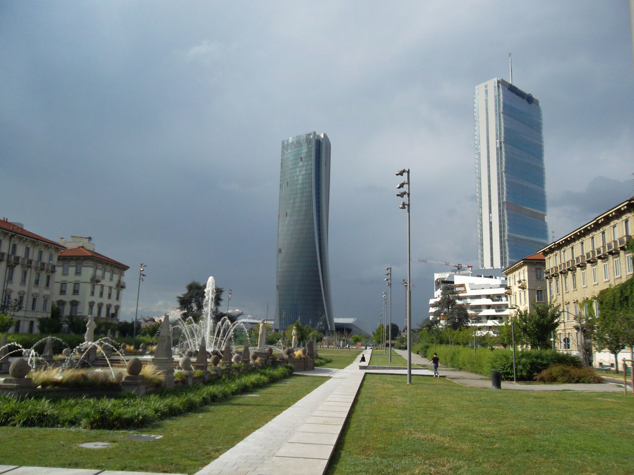 Citylife ... Arata Isozaki Architecture Building Exterior Built Structure City City Life Cloud - Sky Day Grass Growth Milano Citylife Modern Nature No People Outdoors Sky Skyscraper Travel Destinations Tree Zaha Hadid