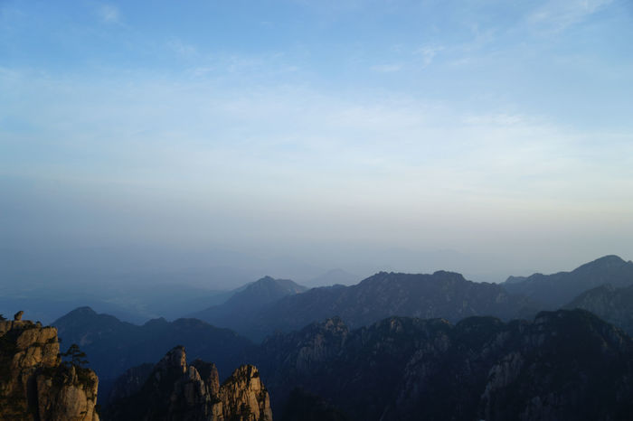 Mountains Mountain View Mountain_collection Huangshan Mount Huangshan Sky