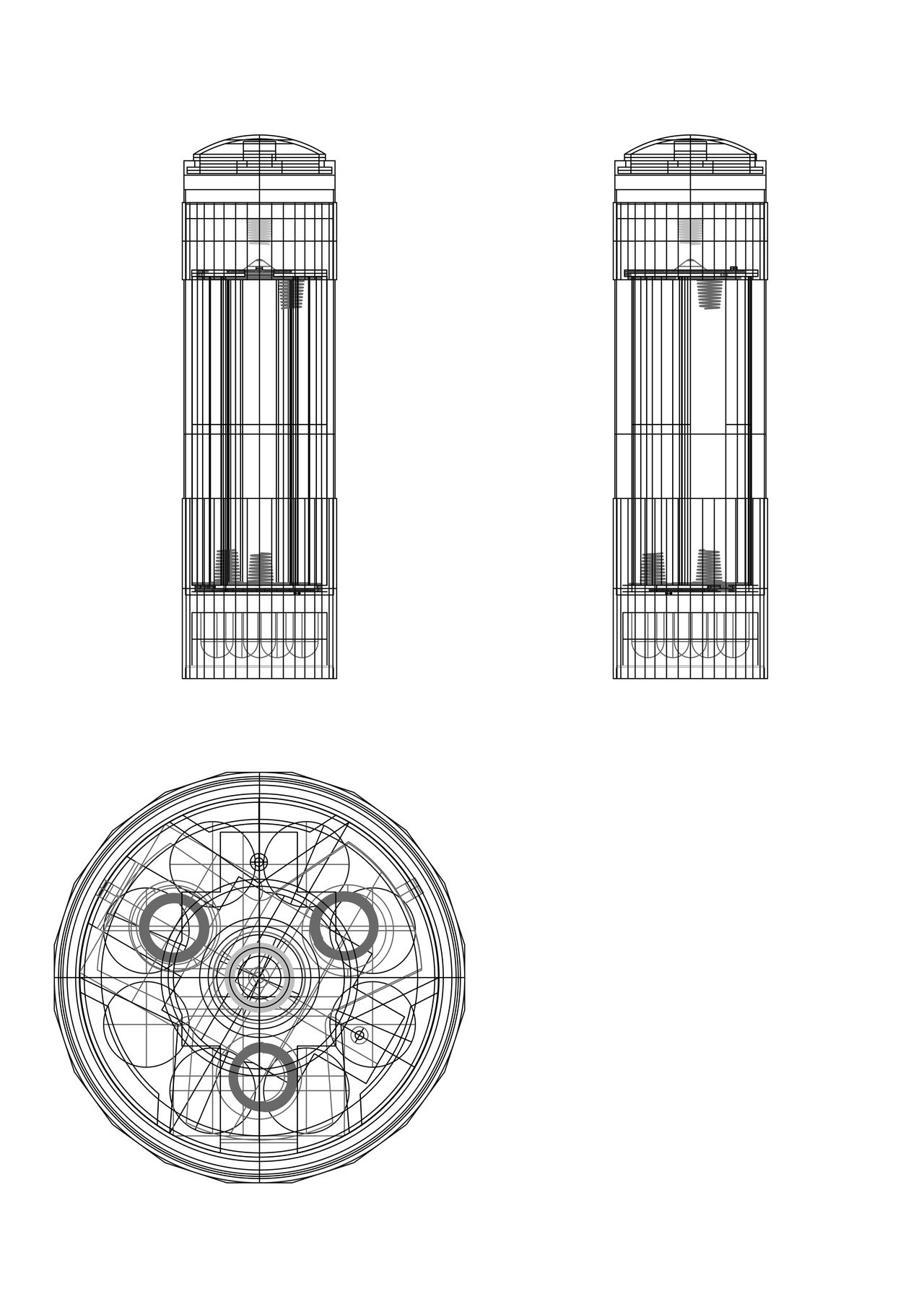 project. Flashlight Architectural Detail Industry Planos Simetry Detail Shapes And Lines Detailed To Perfection White Background No People