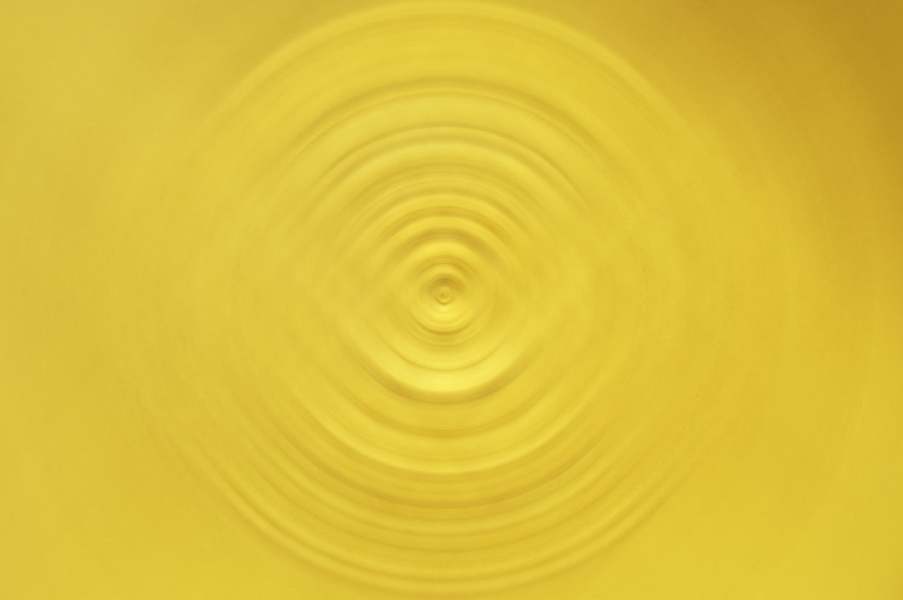 circle, concentric, yellow, motion, full frame, backgrounds, blurred motion, abstract, splashing droplet, close-up, no people, water, textured, nature, day, outdoors, freshness