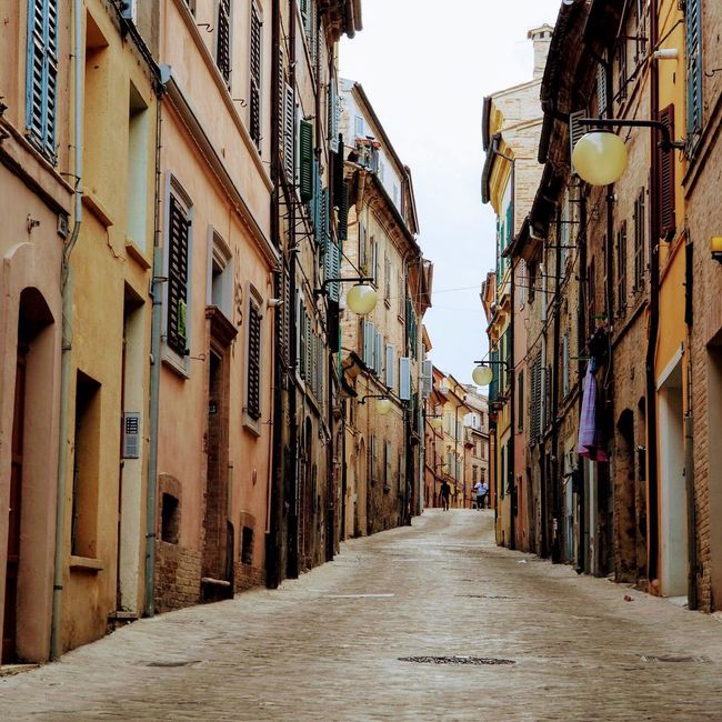 Alley Architecture No People Outdoors City OldItaly The Way Forward Building Exterior Residential Building Built Structure Day Sky Light And Shadow Marche Macerata Europe Italy Earthquake In Italy Warmth