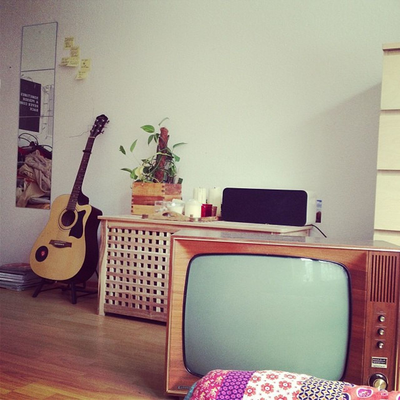 indoors, home interior, music, guitar, musical instrument, no people, living room, day