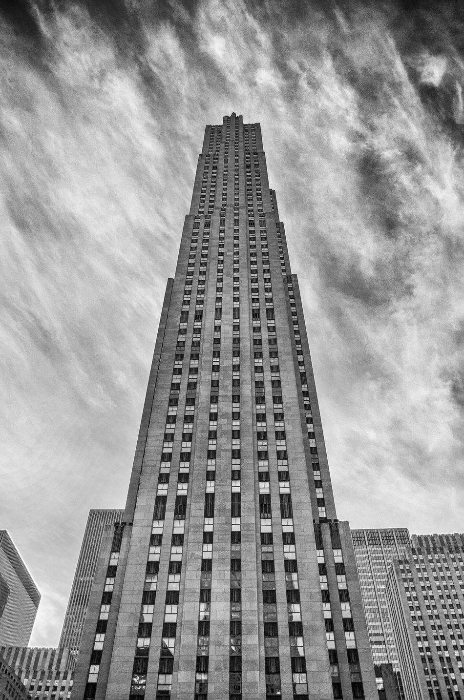 Architecture Black & White Black And White Black And White Photography Building Exterior Built Structure City Day Low Angle View Modern New York New York City No People Outdoors Rockefeller Center Rockefeller Center, New York Rockeffeller Plaza Sky Skyscraper Tall Tower