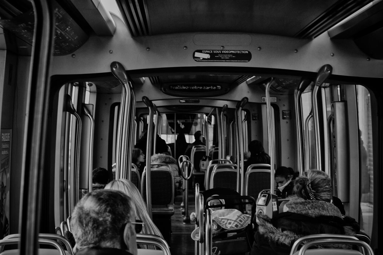 transport Vehicle Interior Transportation Travel Vehicle Seat Mode Of Transport Public Transportation Passenger Indoors  People Passenger Public Transportation Transportation Glass - Material Taking Photos Getting Inspired Window Black And White Noir Et Blanc Black & White Black&white Monochrome