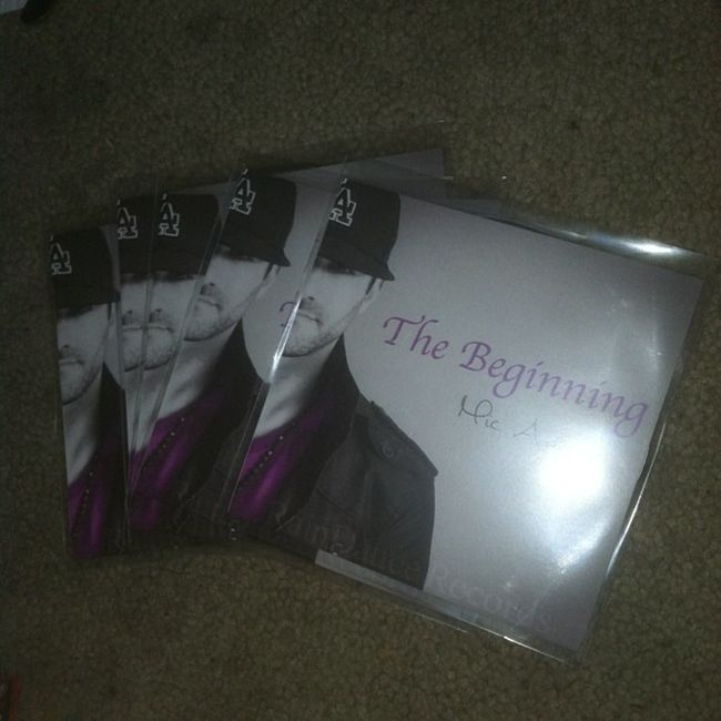 All my local friends looking for new music hit me up got these fresh @_mic_adams TheBeginning .