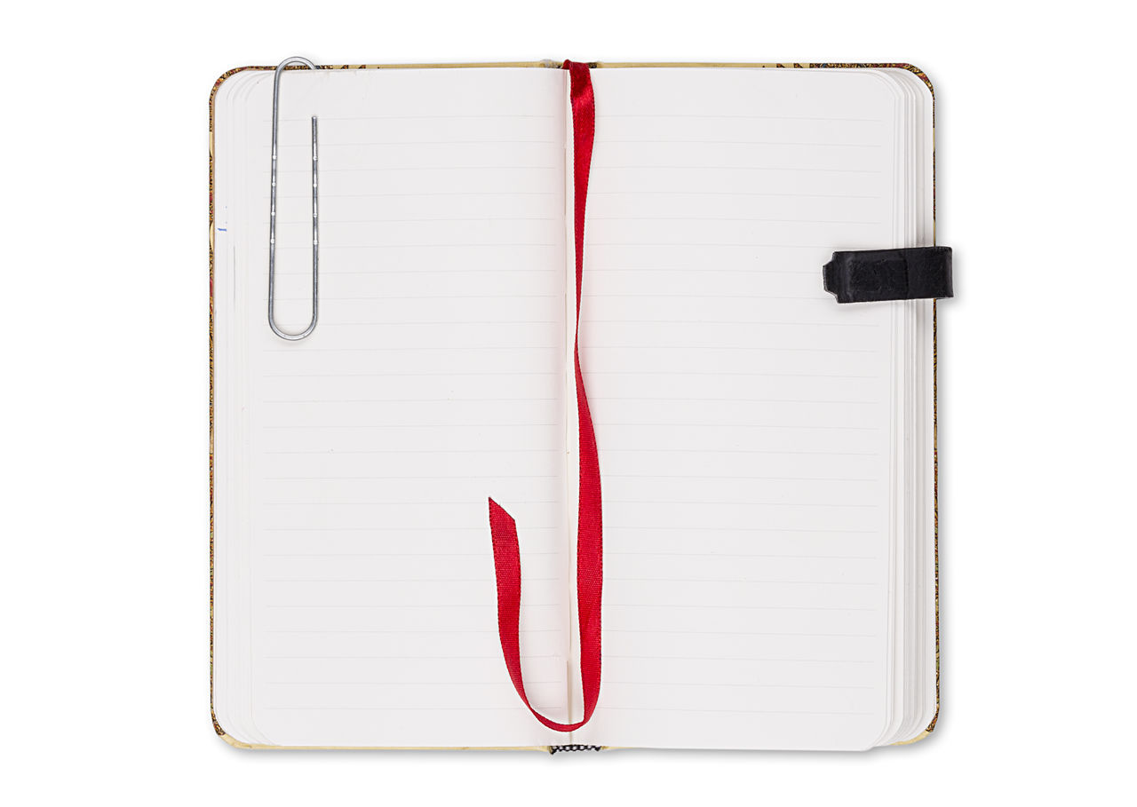 Binder Blank Book Bookmark Business Copy Space Design Diary Empty Isolated Note NotePad Object Office Page Paper School Template Textbook White Write