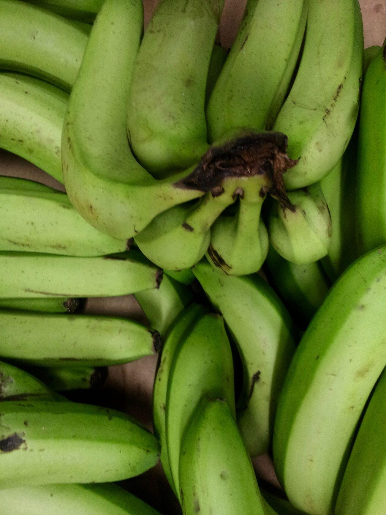 Abundance Bananas Choice Close-up Composition Food Fruits Full Frame Green Green Bananas Green Color Indian Shop, Passage Brady, Paris Market Stall Organic Soon !! ( I Hope ! ;)) Still Life Vegetables And Fruits