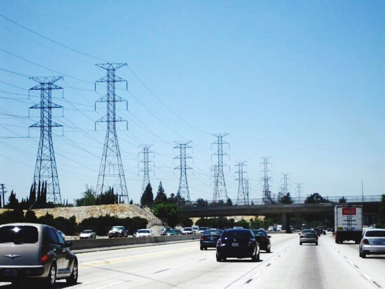Freeways La Losangeles Lalaland Cars Electricity
