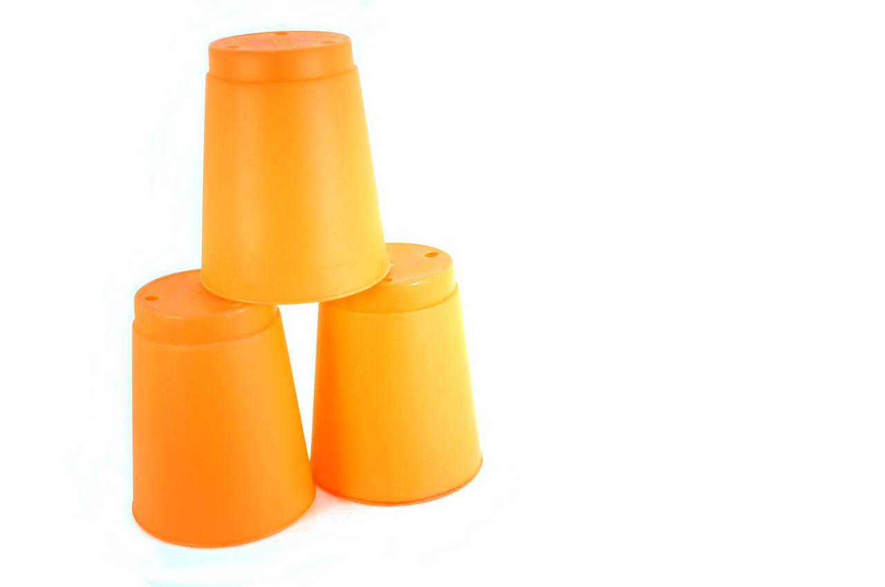 Beauty Glass Group Of Objects Indoors  Isolated Orange Color Speed Stacks Stacks  Studio Shot White Background Yellow