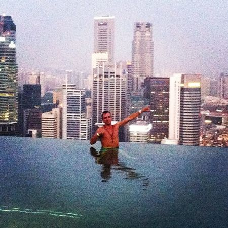 Singapore Infinitypool Awesome Followme Marinabaysands Livingthedream ASIA Skyline Citylife Happy Jumpingcartle