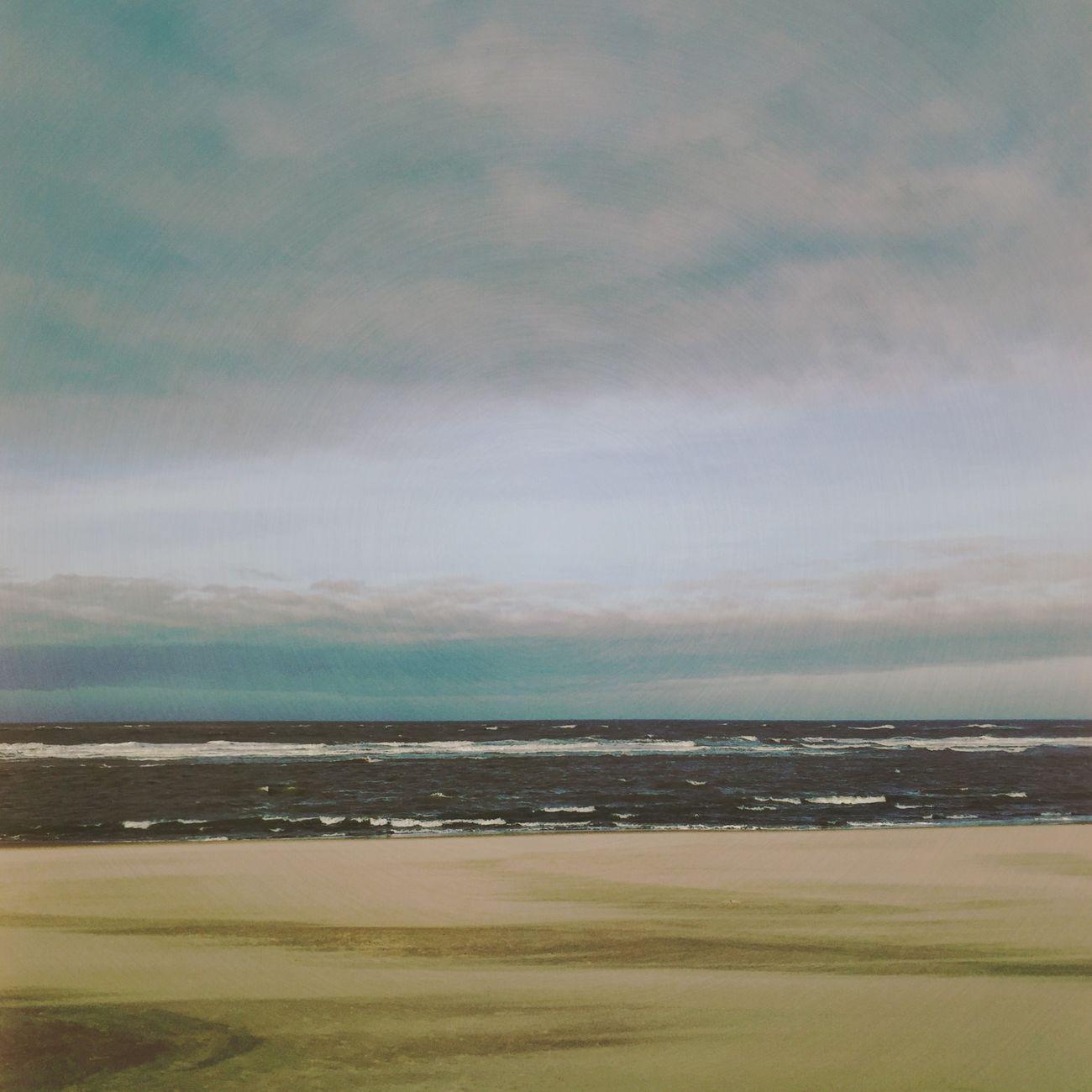 Winter Sea Horizon Clouds And Sky
