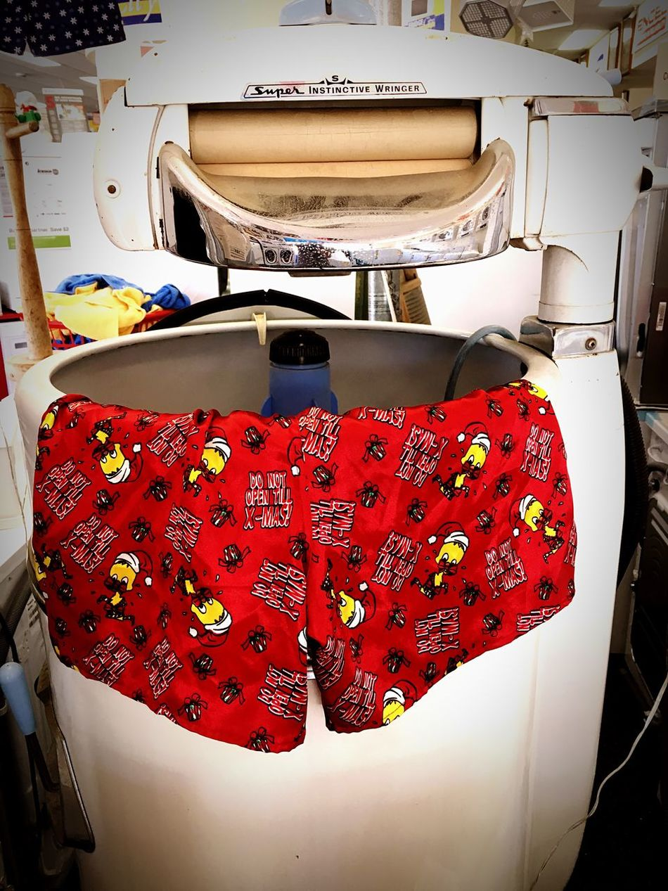 Abstract Boxer Shorts Christmas Close-up Day Eeyem Photography EyeEm Funny Humour Indoors  Jocks Laundrette Laundry No People Pants Red Red Ringer Shorts Technology Technology I Can't Live Without Vintage Washing Washing Machine Xmas Close Up Technology