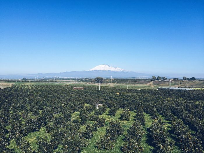 Etna Etna Sicily Panorama Vulcan Clouds And Sky Summer Traveling