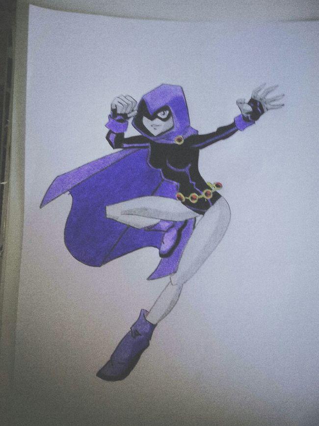 Raven Teentitans Draw Drawing