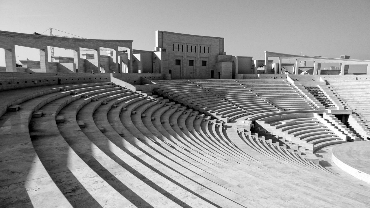 Katara Village #amphitheater #Katara Village #the Pearl #West Bay #the Pearl Beach Photography Beachlife Blackandwhite Blackandwhite Photography Blue Sky And Clouds In Doha Qatar Katara Beach Katara Village Pearl Harbor