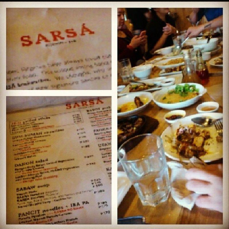 Friday lunch at Sarsa , BGC with strategic planning team of Mccann . Tgif Filipinofood