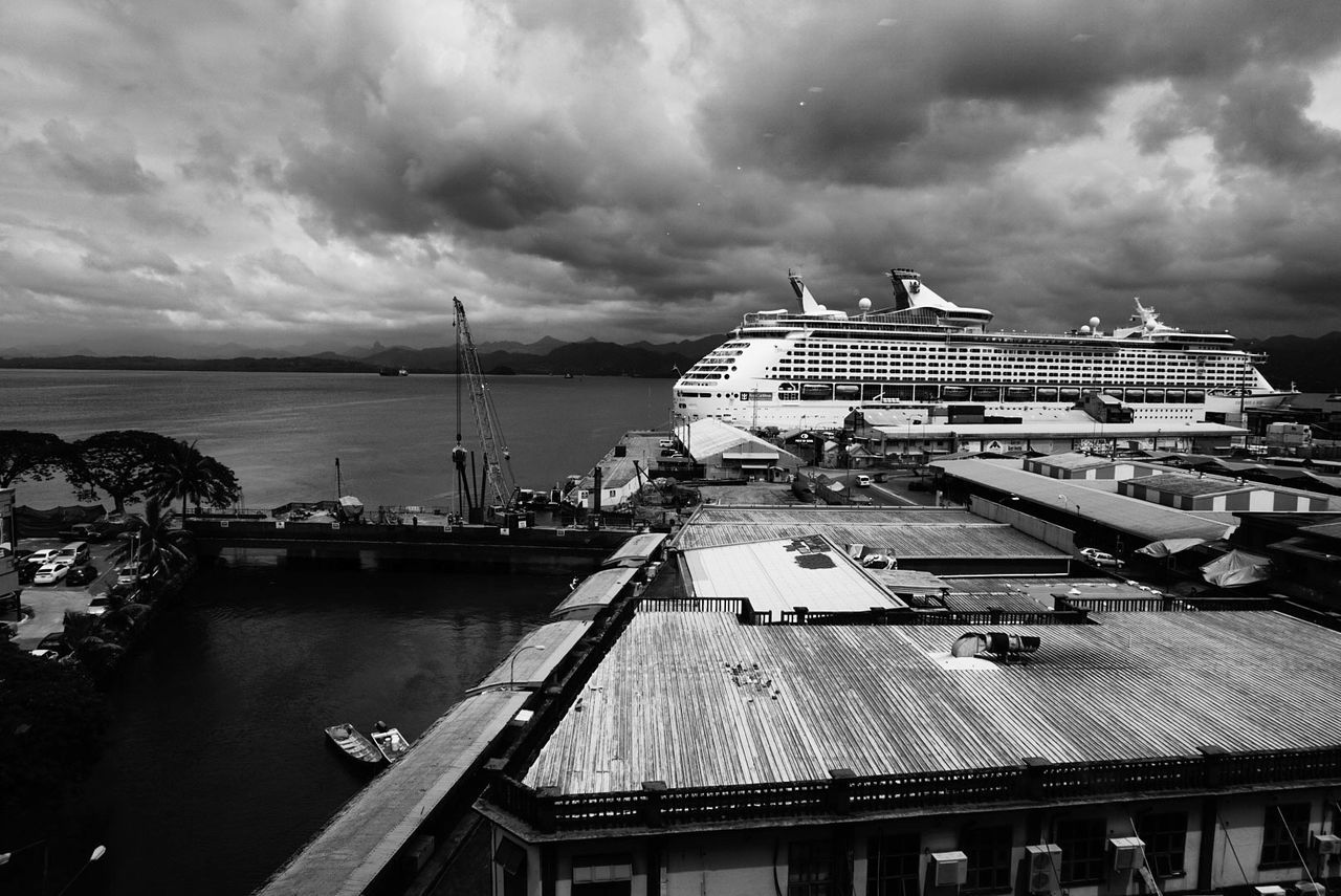 Traveling Home For The Holidays Port Nautical Vessel Cruise Ship Harbor Sky Sea Water Cloud - Sky Streetphoto_color Travel Destinations Streetphotography SUVA FIJI ISLANDS Blackandwhite Black & White