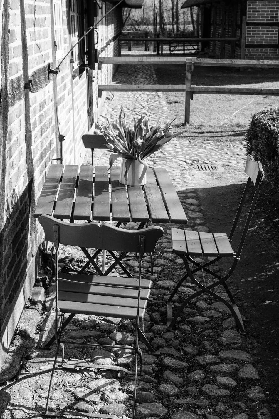 Still Life StillLifePhotography Black & White Black And White Blackandwhite Garden Chairs Table