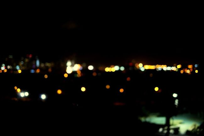 Blurred Skyline Night Photography Night Lights Park Out Of Focus