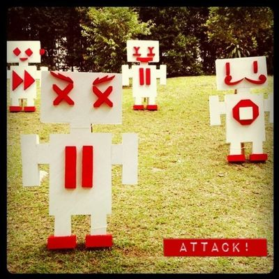 Robots attack! IPhoneography Instagram Singapore Art Iphoneonly Robots IPhone