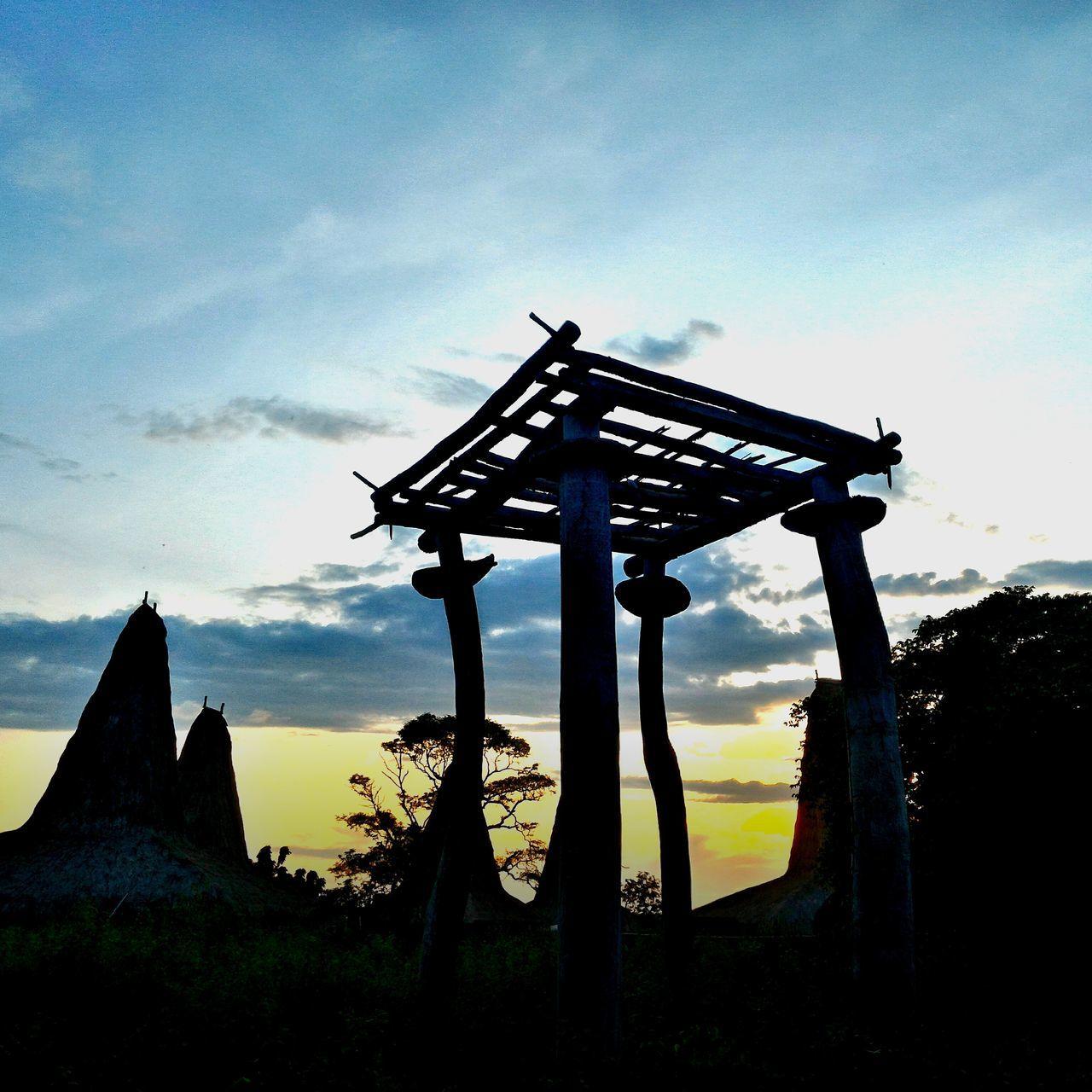 Sunset @ traditional village. No People Low Angle View Nature Outdoors Sumba Barat Daya Kodi Sky Day